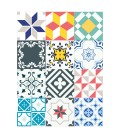 PACK 12 ADHESIVE TILES PATCHWORK