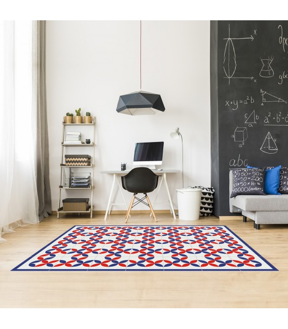 VINYL GEOMETRIC CARPET